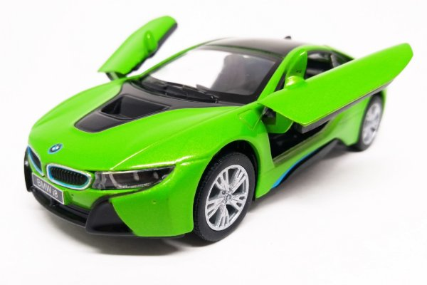 BMW I8 Verde - Escala 1/36 - 12 CM