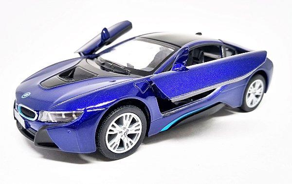 BMW I8 Roxo - Escala 1/36 - 12 CM