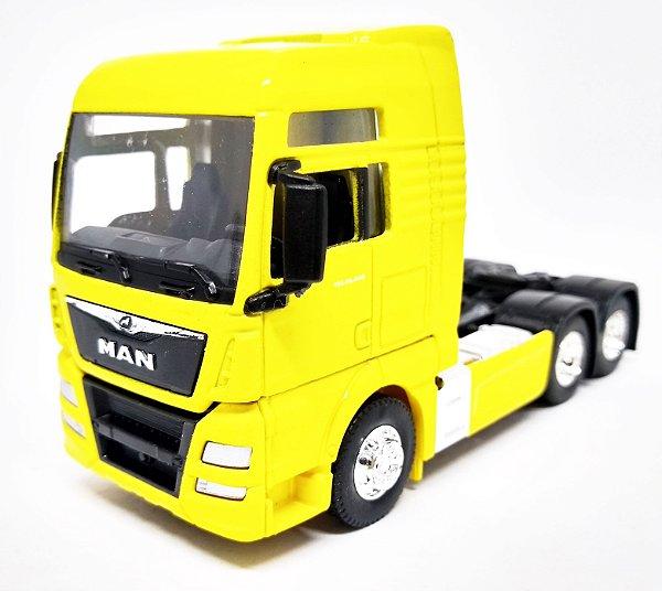 MAN TGX Trucado Amarelo - Escala 1/64 - 11 CM
