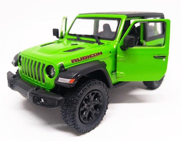 Jeep Wrangler Rubicon Verde - Escala 1/38 - 12 Cm