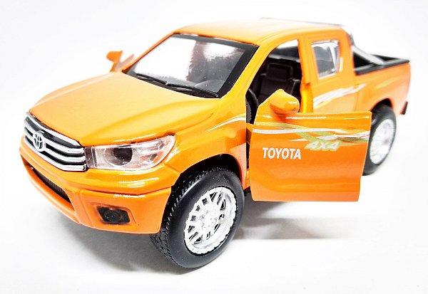Toyota Hilux 4x4 Laranja - Escala 1/38 13 CM
