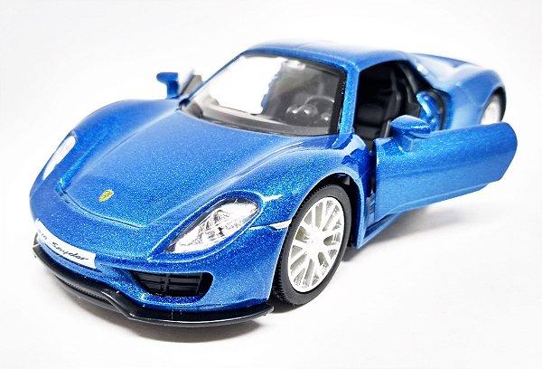 Porsche 918 Spyder Azul- Escala 1/36 13 CM
