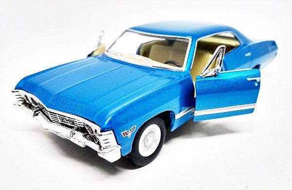 Chevrolet Impala 1967 Azul - Escala 1/43 -13 CM