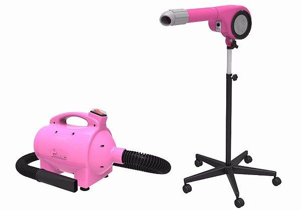 Kit Secador e Soprador para Petshop Minag Rosa 220V