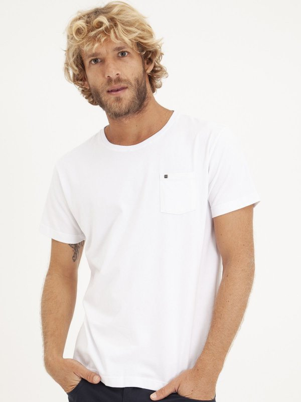 T-shirt Pocket Branco