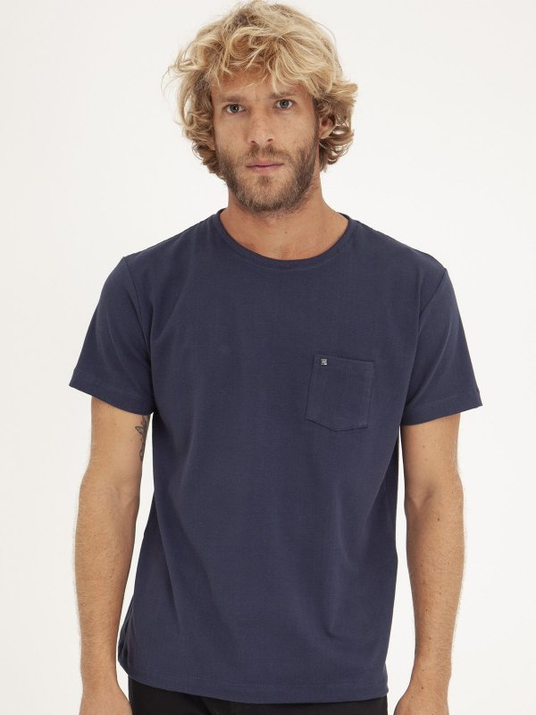 T-shirt Pocket Marinho