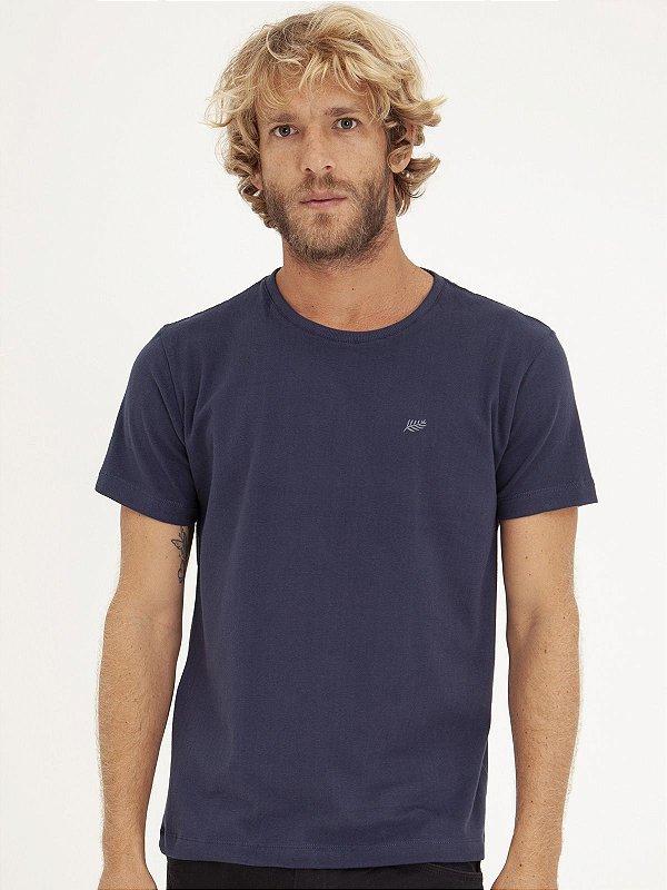 T-shirt Leaf Marinho