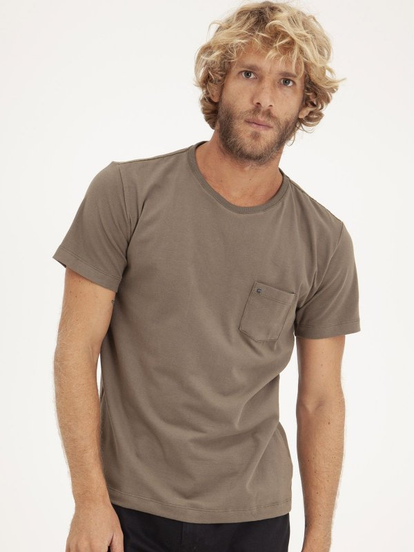T-Shirt Pocket Old Green
