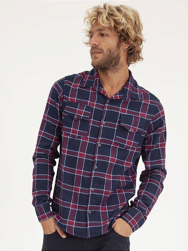 Camisa Xadrez Marinho/Vinho