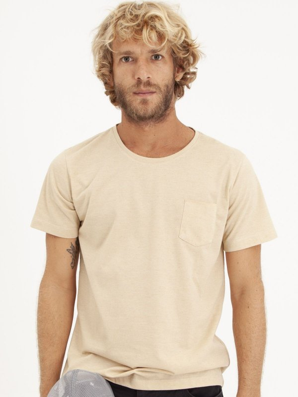 T-shirt Pocket Linho Bege