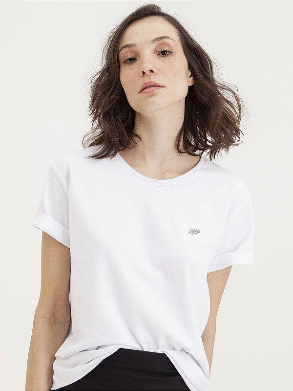 T-shirt Leaf Branco