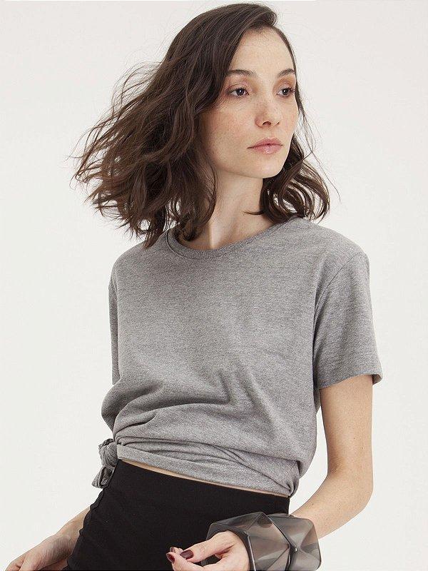 T-shirt Minimal Feminina Grafite