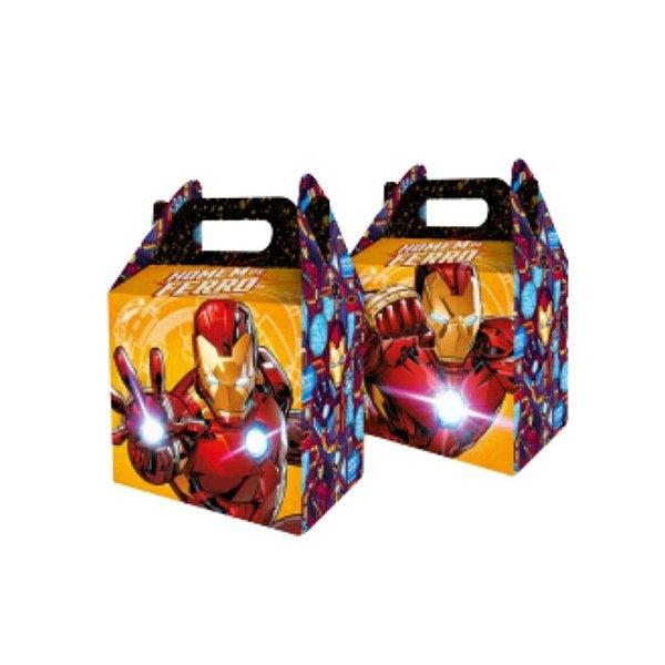 Caixa Surpresa Maleta Festa Homem de Ferro - 08 unidades - Regina - Rizzo