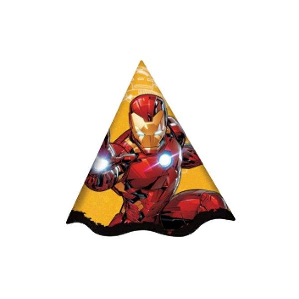 Chapeu de Aniversário Festa Homem de Ferro - 12 unidades - Regina - Rizzo