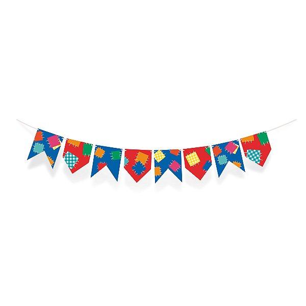 Varal de Bandeirinhas Festa Junina - Cromus - Rizzo Embalagens