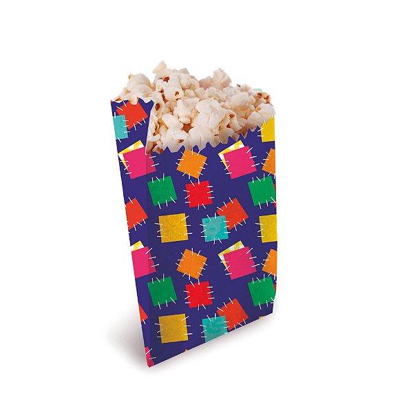 Saquinho de Papel para Lanche e Pipoca Festa Junina - 50 unidades - Cromus - Rizzo Embalagens