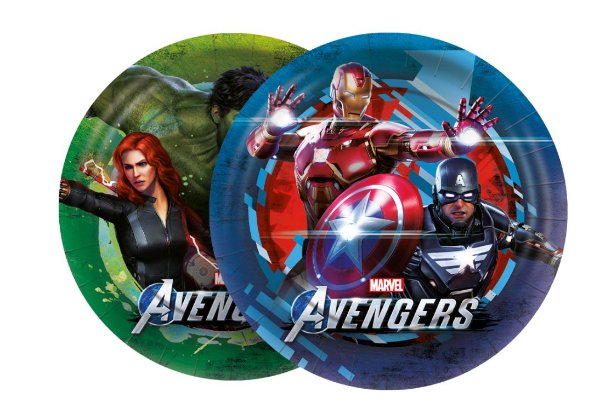 Prato de Papel Redondo Festa Avengers Game Verse - 12 unidades - Regina - Rizzo
