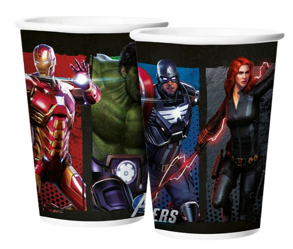 Copo de Papel Festa Avengers Game Verse - 12 unidades - Regina - Rizzo