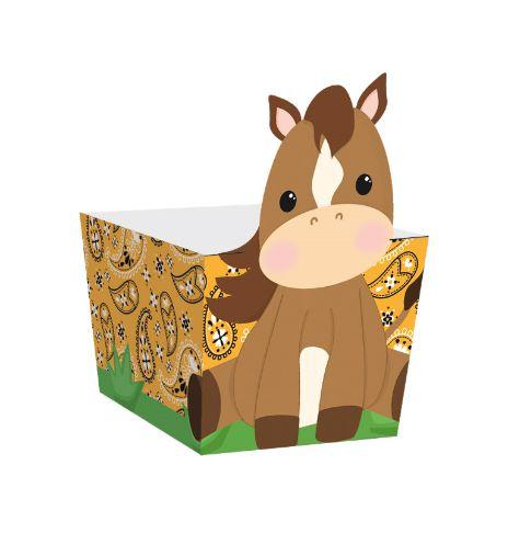 Mini Cachepot de Cavalinho Festa Fazendinha - 10 unidades - Cromus - Rizzo Embalagens