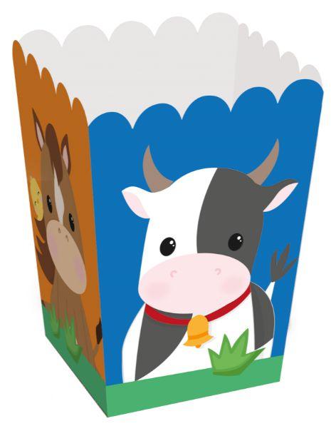 Caixa para Pipoca Festa Fazendinha - 10 unidades - Cromus - Rizzo Embalagens