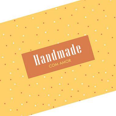 Tira Decorativa Handmade com Amor - Tam P / M / G - 5 unidades - Rizzo