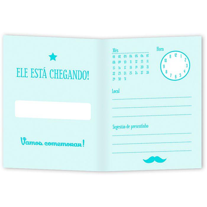 Convite de Chá de Bebê Homenzinho - 10 unidades - Regina - Rizzo