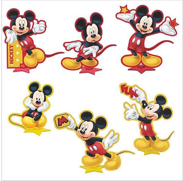 Kit Enfeite Impresso em EVA - Disney - Mickey Mouse - 01 unidade - Piffer-  Rizzo Embalagens