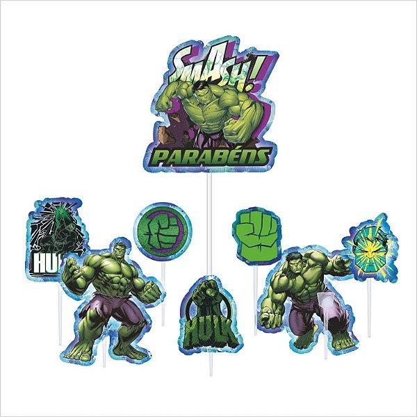 Topo de Bolo Impresso - Vingadores - Hulk - 01unidade - Piffer - Rizzo Embalagens