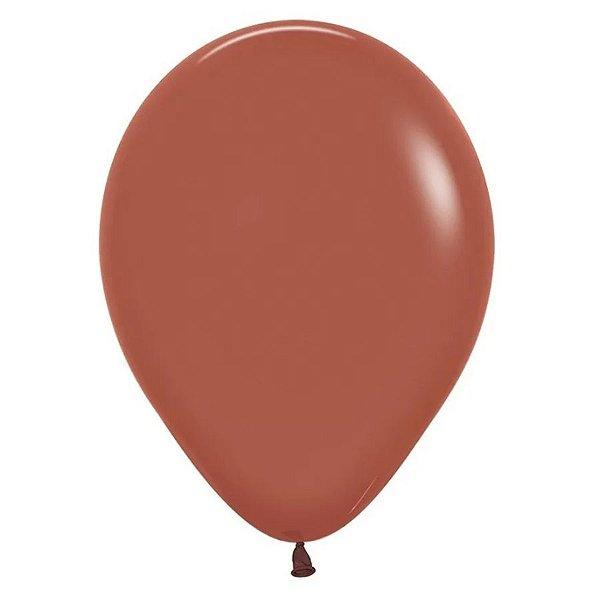 Balão de Festa Látex Liso - Terracota - Sempertex Cromus - Rizzo Balões