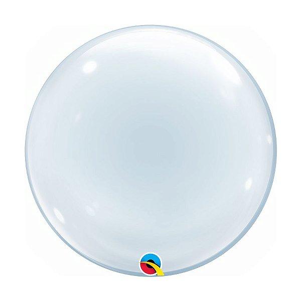 """Balão de Festa Bubble 24"""" 61cm - 01 Unidade - Qualatex - Rizzo Embalagens"""