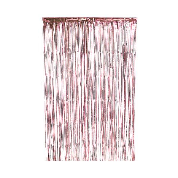 Cortina Decorativa Fosca Rosê Gold L1 x A2 m- 01unidade - Artlille - Rizzo Embalagens