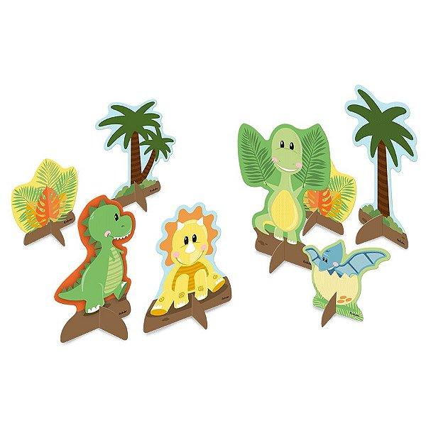 Decoração de Mesa Festa Dino Baby - 8 Unidades - Festcolor - Rizzo