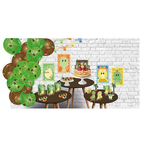 Kit Decorativo Só um Bolinho Festa Dino Baby - 90 Unidades - Festcolor - Rizzo Embalagens