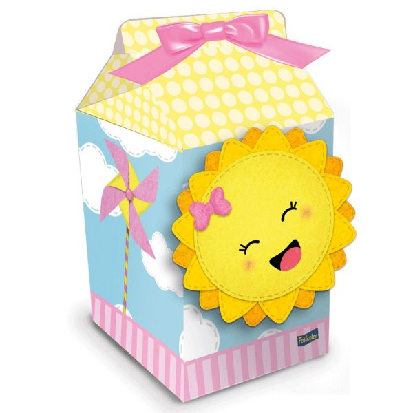 Caixa Milk Festa Raio de Sol - 8 Unidades - Festcolor - Rizzo Embalagens