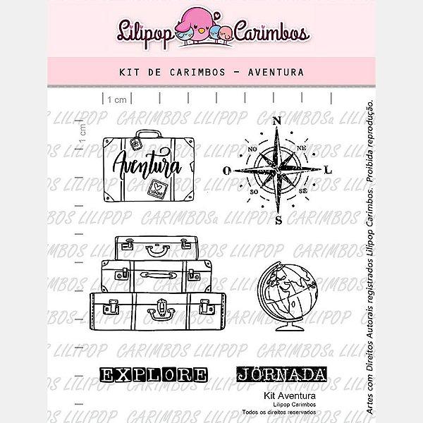 Carimbo Aventura Cod 31000028 - 01 Unidade - Lilipop Carimbos - Rizzo