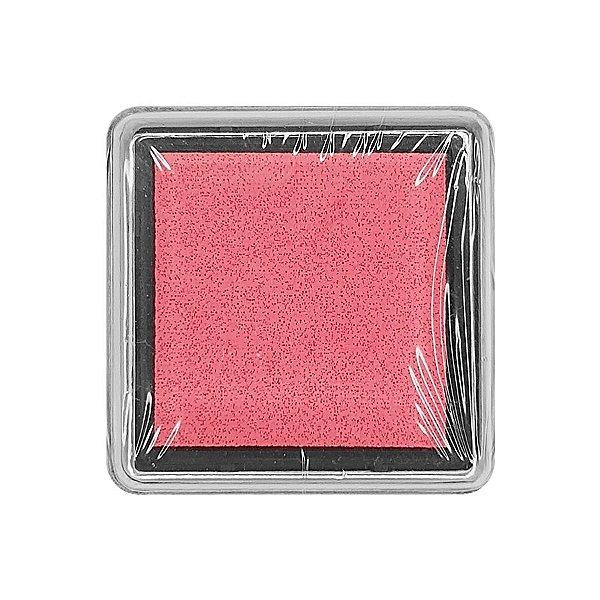 Almofada para Carimbo em Plástico e Espuma - Carimbeira Pink 2,5x2,5cm - 01 Unidade - Rizzo Embalagens