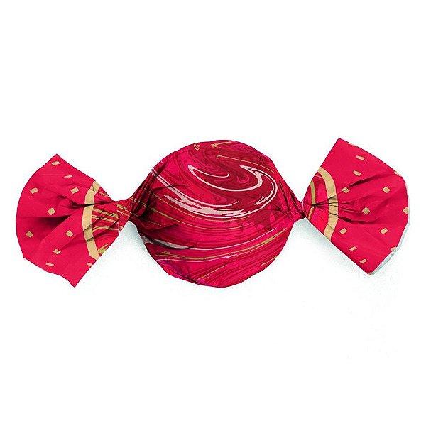 Folha Trufa Marmore Vermelho 14,5x15,5 - 100 unidades - Cromus - Rizzo