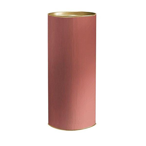 Lata para Presente Liso Rose Gold - 01 unidade - Cromus - Rizzo Embalagens
