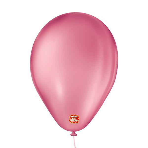 """Balão de Festa 6,5"""" Basic - Rosa Maravilha - 50 Unidades - Balões São Roque - Rizzo"""