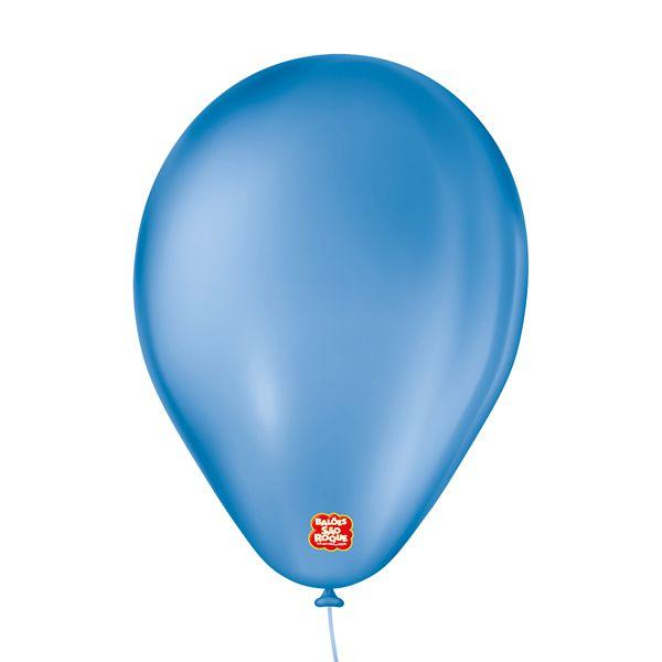 """Balão de Festa 6,5"""" Basic - Azul - 50 Unidades - Balões São Roque - Rizzo"""