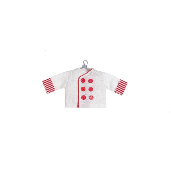 Enfeite para Pendurar Doma Cozinheiro Branca - 01 unidade - Cromus Natal - Rizzo