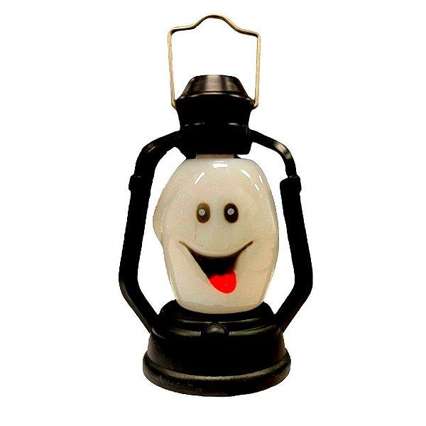 Mini Lamparina decorativa Halloween -  Fantasminha com led colorido - 01 unidade - Rizzo