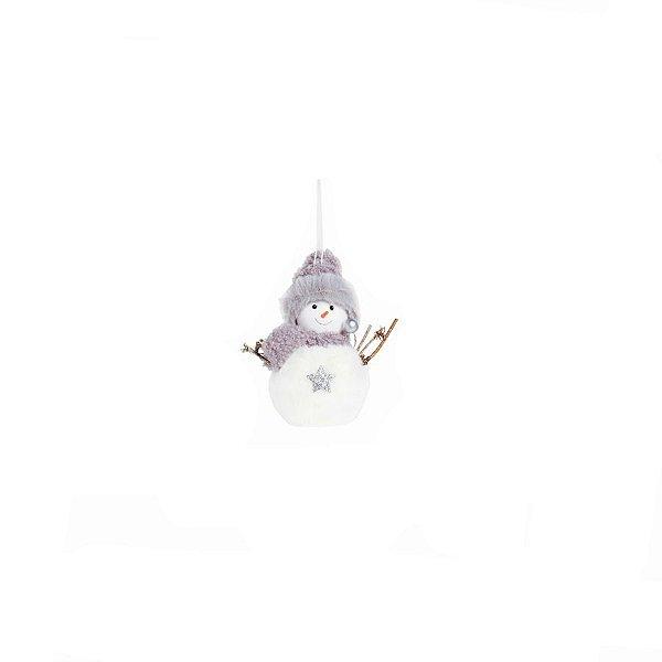 Enfeite para Pendurar Boneco de Neve Estrela - 01 unidade - Cromus Natal - Rizzo