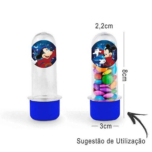 Mini Tubete Lembrancinha Festa Mickey Fantasia 8cm 20 unidades - Azul - Rizzo Embalagens