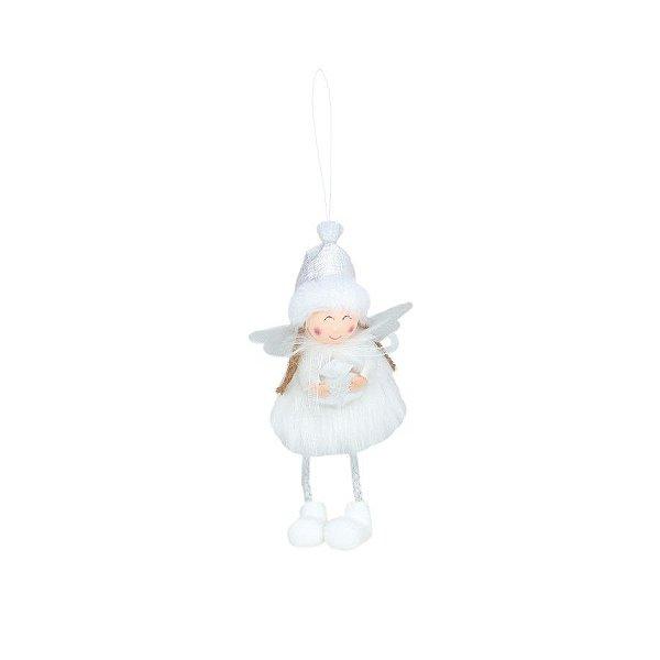 Enfeite para Pendurar Anjo Arvore Branco - 01 unidade - Cromus Natal - Rizzo Embalagens