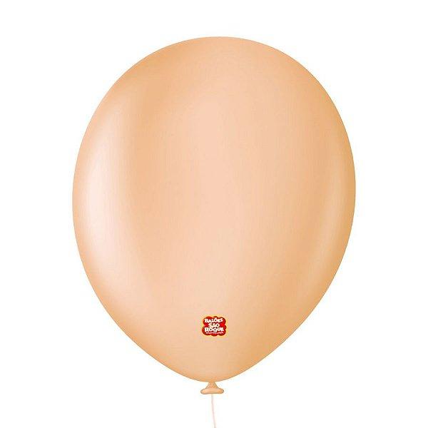 """Balão Profissional Premium Uniq 11"""" 28cm - Bege Nude - 15 unidades - Balões São Roque - Rizzo Embalagens"""