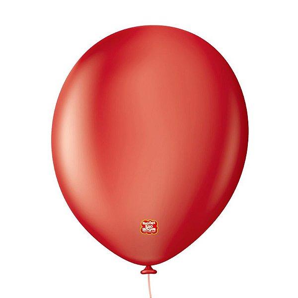 """Balão Profissional Premium Uniq 11"""" 28cm - Vermelho Intenso - 15 unidades - Balões São Roque - Rizzo Embalagens"""