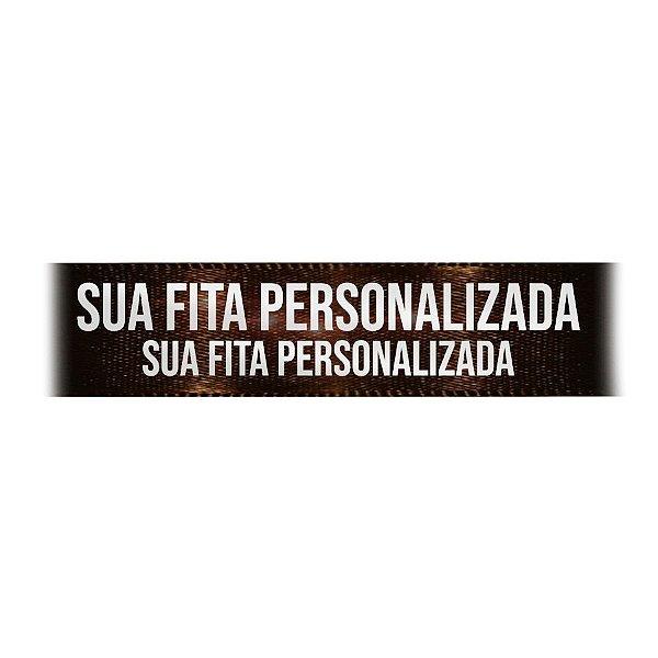 Fita de Cetim Personalizada CFS007 - 30mm X 45metros - Marrom Café 340 - 01 Unidade - Progresso - Rizzo