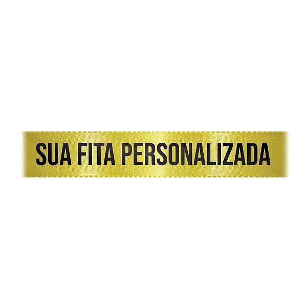 Fita de Cetim Personalizada CFS005 - 22mm X 45metros - Amarelo Canário 242 - 01 Unidade - Progresso - Rizzo