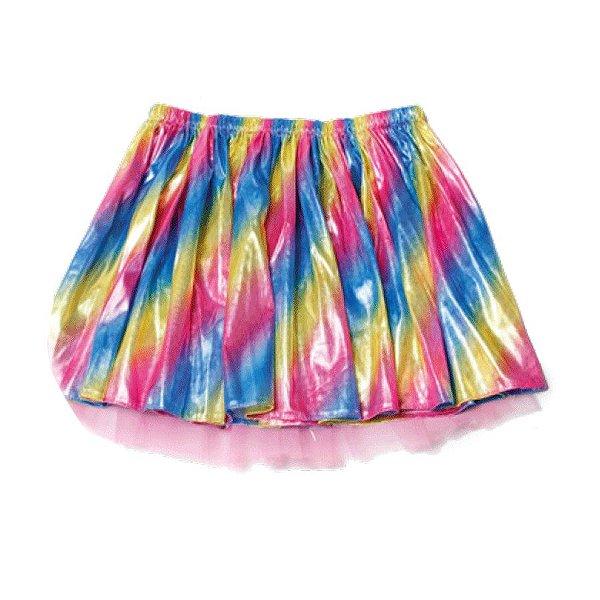 Saia Tute com Tecido Colorido Infantil Festa Carnaval 01 Unidade Cromus Rizzo Embalagens